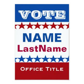 Political Campaign Card