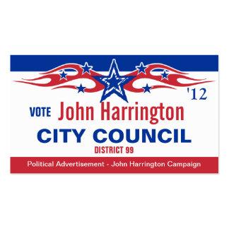 Political Campaign Card - City Council Business Card Template