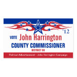 Political Campaign Card - County Commissioner Business Card Templates