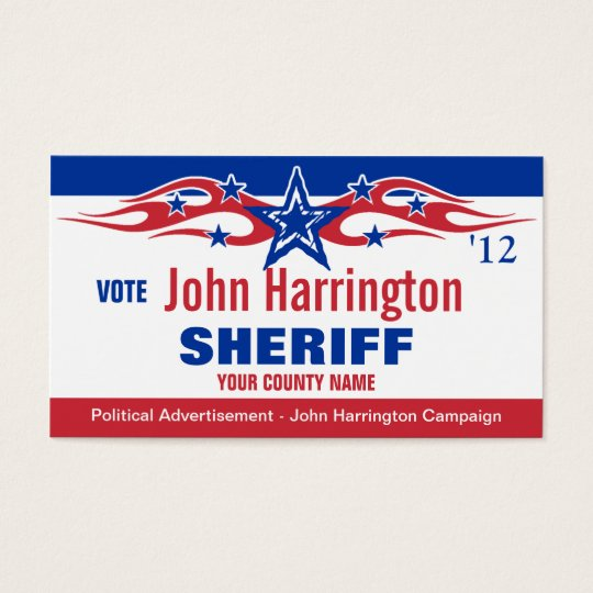 Political Campaign Card - Sheriff