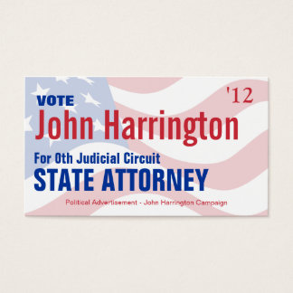 Political Campaign Card - State Attorney