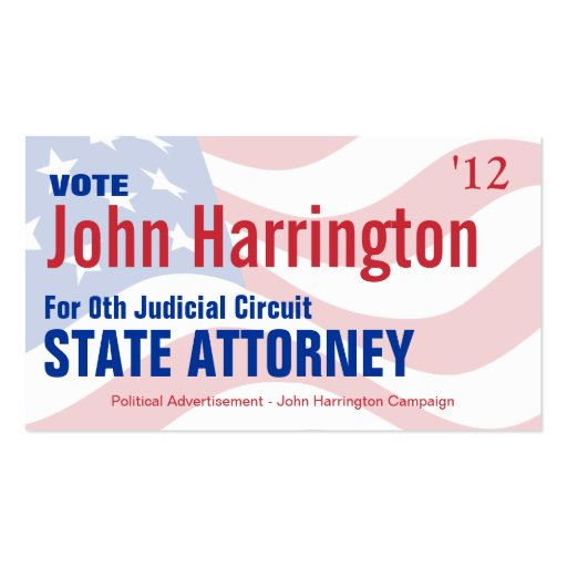 Election business card templates page2 bizcardstudio political campaign card state attorney business cards colourmoves