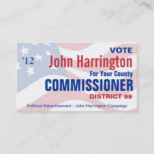 Political business cards 1000 political business card templates political campaign county commissioner business business card colourmoves