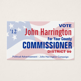 Campaign business cards templates zazzle political campaign county commissioner business business card colourmoves