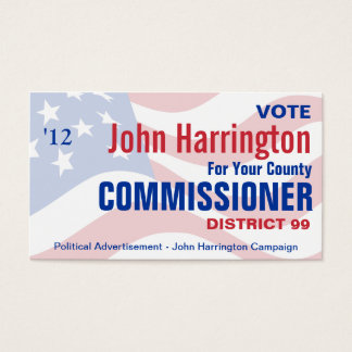 Political Campaign - County Commissioner Business Business Card