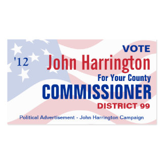 Political Campaign - County Commissioner Business Double-Sided Standard Business Cards (Pack Of 100)