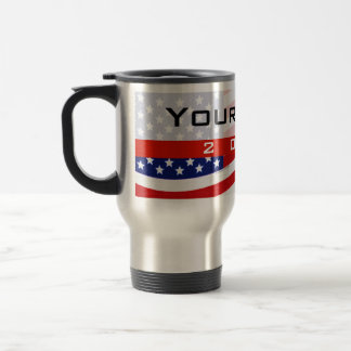 Political Campaign, CYO Stars and Stripes 15 Oz Stainless Steel Travel Mug