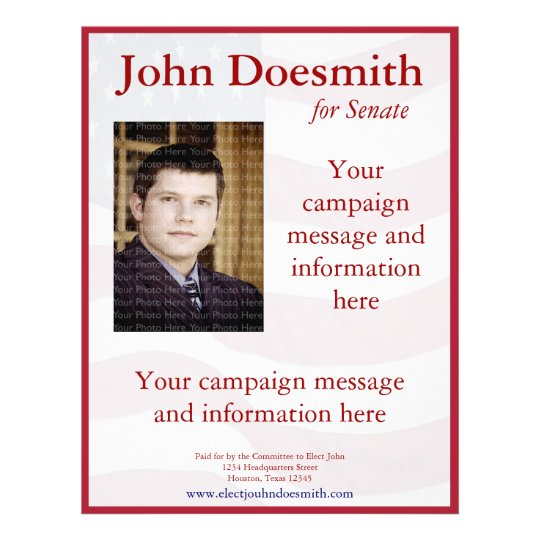Political Campaign Flyer Template | Zazzle