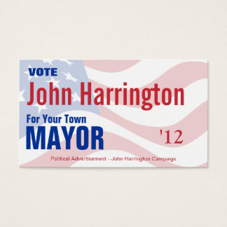 Political Campaign - Mayor Business Card