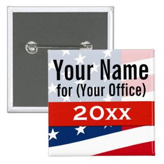 Political Campaign Non-Partisan Create Your Pinback Button