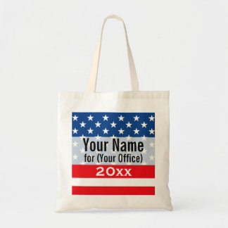 Political Campaign Non-Partisan Printed Candidate Tote Bag