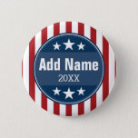 Political Campaign - Patriotic Stars and Stripes Button