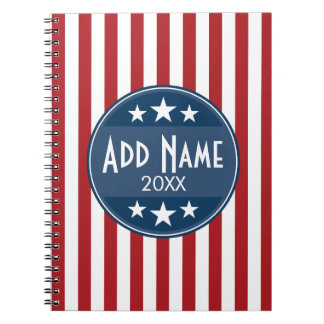 Political Campaign - Patriotic Stars and Stripes Note Books
