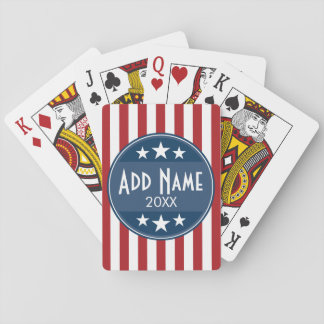 Political Campaign - Patriotic Stars and Stripes Playing Cards