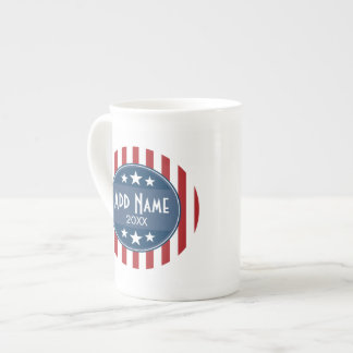Political Campaign - Patriotic Stars and Stripes Tea Cup