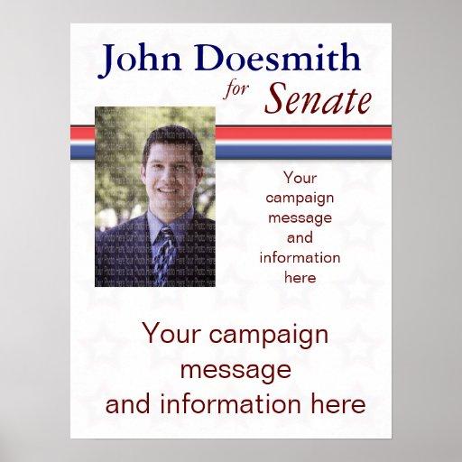 political campaign poster template zazzle