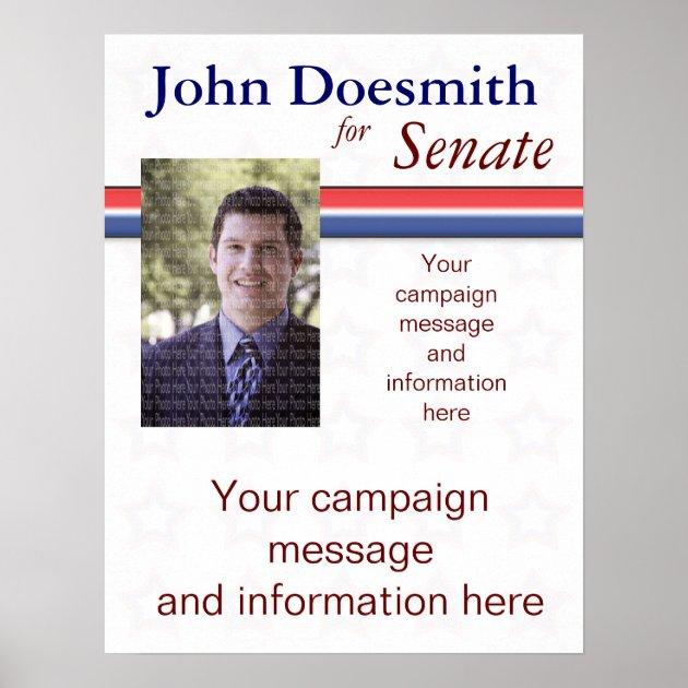 Political Campaign Poster Template | Zazzle