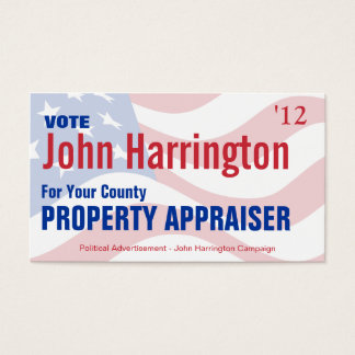 Political Campaign - Property Appraiser Business Business Card