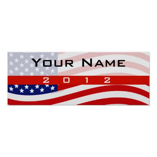 Political Campaign Sign Printing, Stars and Stripe Poster