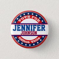 Political Campaign Template Button