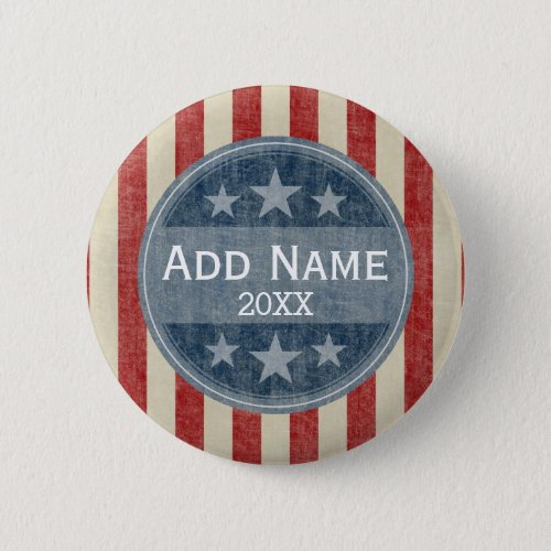 Political Campaign _ vintage stars and stripes Button