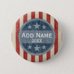 """Political Campaign - vintage stars and stripes Button<br><div class=""""desc"""">Create your own campaign gear! Republican,  Democrat or any party - Support your favorite candidate with a custom button.</div>"""