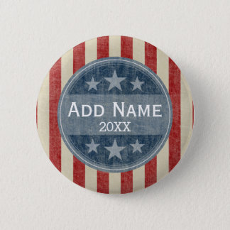 Political Campaign - vintage stars and stripes Button