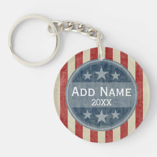 Political Campaign - vintage stars and stripes Keychain