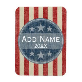 Political Campaign - vintage stars and stripes Magnet