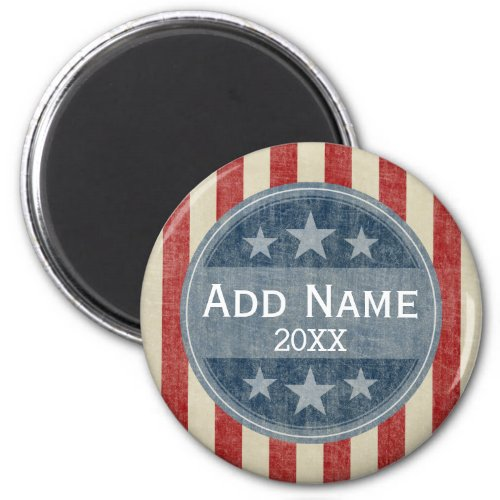 Political Campaign _ vintage stars and stripes Magnet