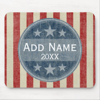 Political Campaign - vintage stars and stripes Mouse Pad