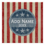 Political Campaign - vintage stars and stripes Poster