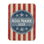 Political Campaign - vintage stars and stripes Rectangular Photo Magnet
