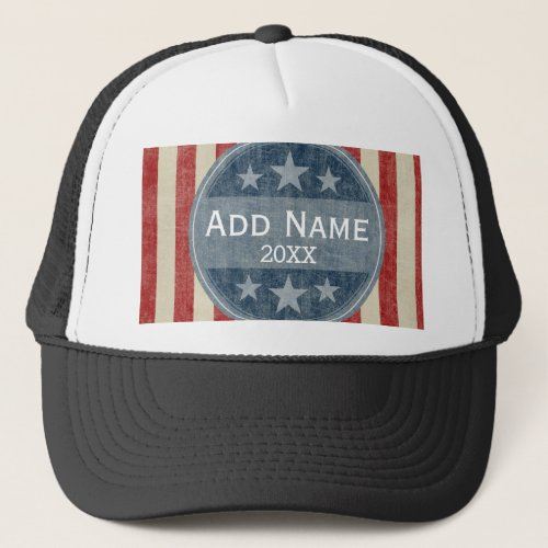 Political Campaign _ vintage stars and stripes Trucker Hat