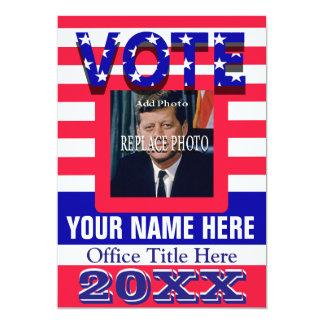 Political Campaign Vote Card