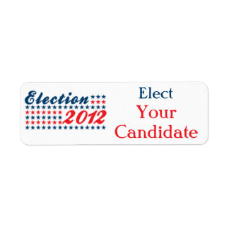 Political Candidate Election Label