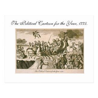 Political Cartoon Postcard