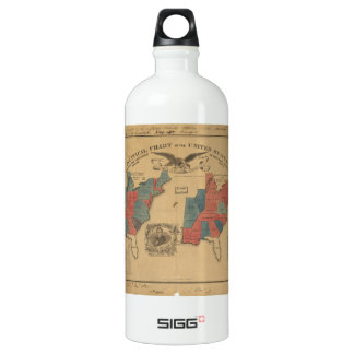 Political Chart of the United States (1840) Aluminum Water Bottle