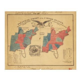 Political Chart of the United States (1840) Canvas Print
