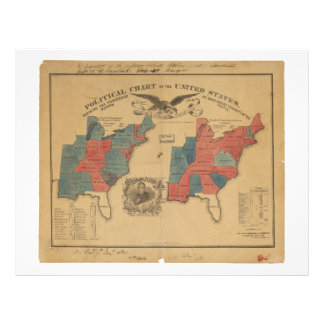 Political Chart of the United States (1840) Letterhead
