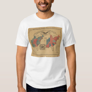 Political Chart of the United States (1840) T Shirt