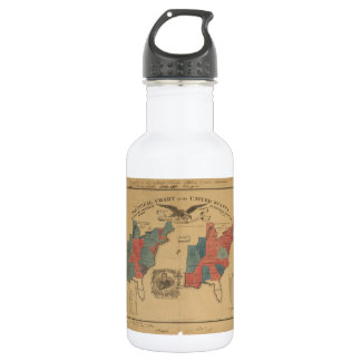 Political Chart of the United States (1840) Water Bottle
