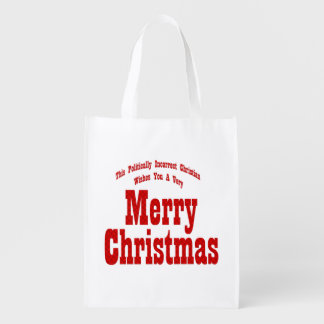 Political Christian Merry Christmas Bags Market Totes
