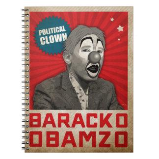 Political Clown Spiral Note Books