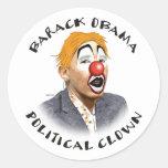 Political Clown Round Stickers
