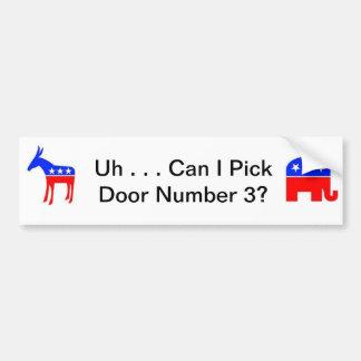 political confusion bumper sticker