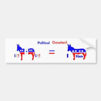 Political Constant Bumper Sticker