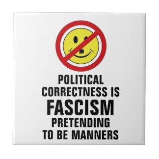 Political Correctness IS Fascism Tile