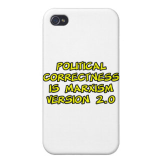 political correctness is marxism version 2.0 iPhone 4 case