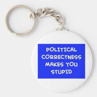 POLITICAL CORRECTNESS MAKES YOU STUPID KEYCHAIN